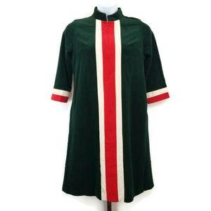 Vintage Vanity Fair Velour Christmas Robe Size 12